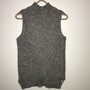 ASOS sleeveless cable knit sweater high neck Sz 4